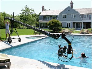 Above is an example of a crane in use by a filmmaker.