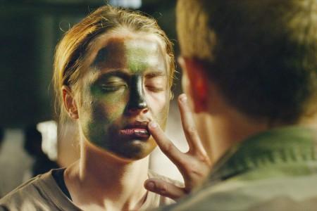 les combattants face painting